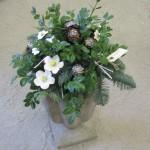 Juledekoration m. keramikblomster