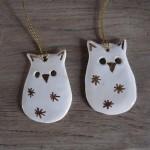 Ugler  i keramik til ophæng