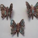 keramik sommerfugle med bronce efekt